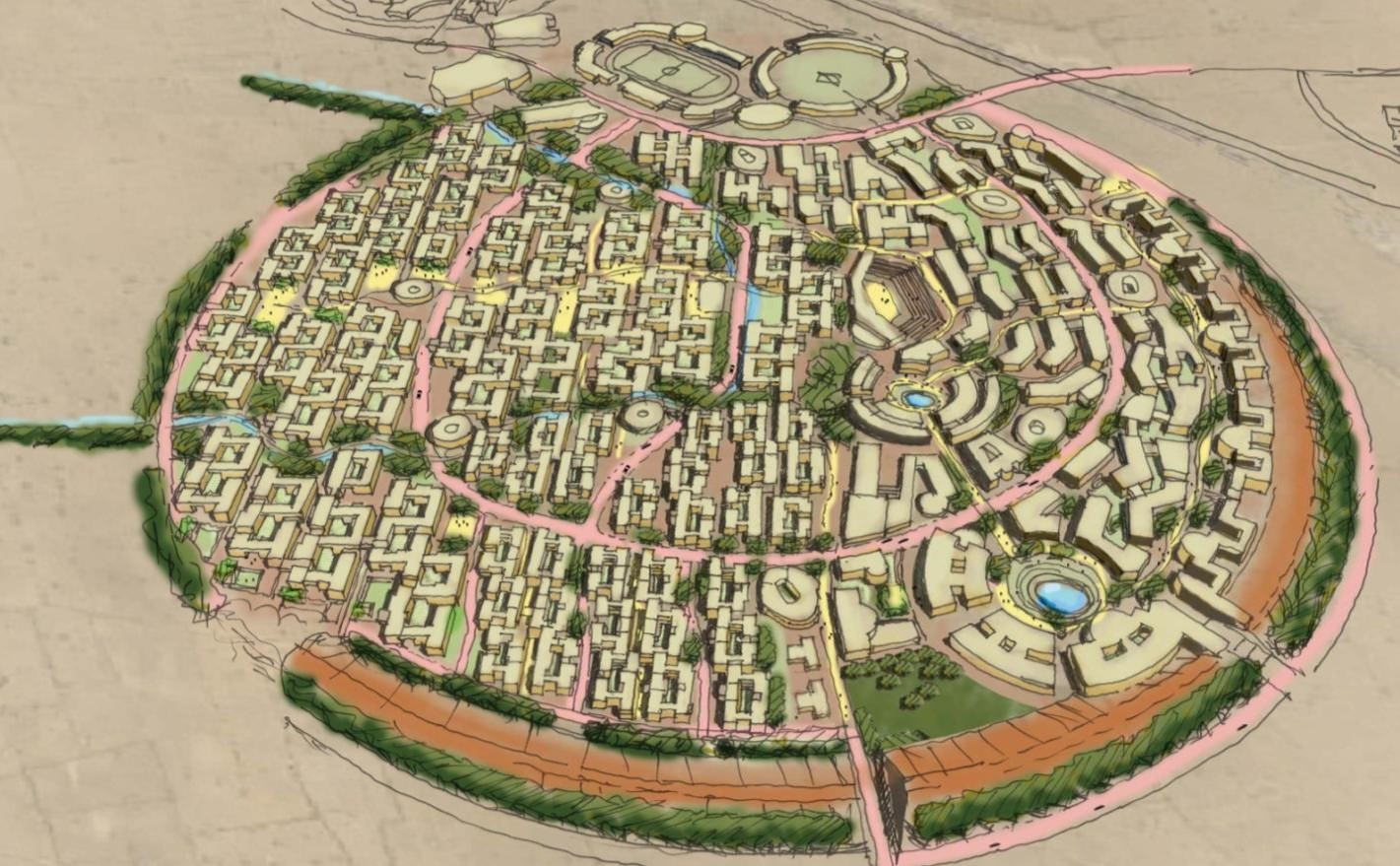 A cluster in the IIT Jodhpur masterplan by SHiFt